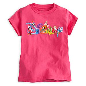 Disney Logo Tee for Girls - Summer Fun