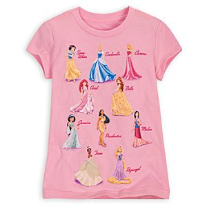 Every Disney Princess Tee for Girls