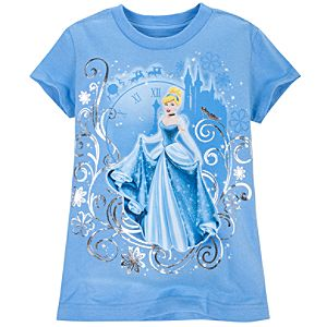 Cap Sleeve Cinderella Tee for Girls