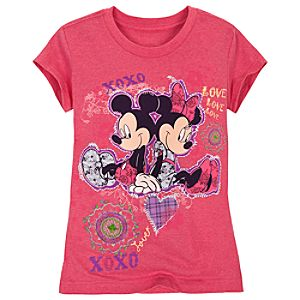 XOXO Minnie and Mickey Mouse Tee for Girls