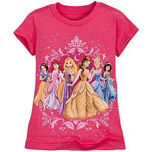 Filigree Disney Princess Tee for Girls