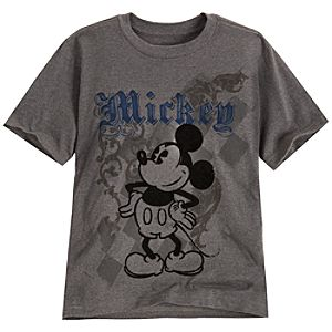 Flocked Mickey Mouse Tee for Boys