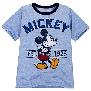 Ringer Mickey Mouse Tee for Boys