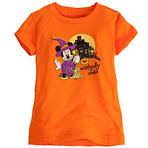 Wickedly Cute Halloween Minnie Mouse Tee for Girls