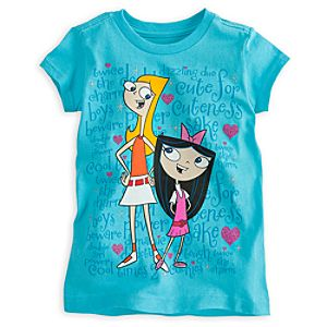 Phineas and Ferb Isabella and Candace Tee for Girls