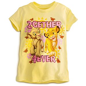 The Lion King Nala and Simba Tee for Girls