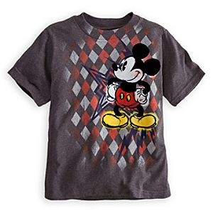 Argyle Shock Mickey Mouse Tee for Boys
