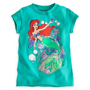 Ariel Bubbles Tee for Girls