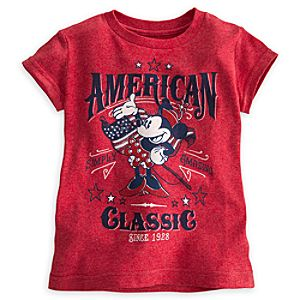 Minnie Mouse Tee for Girls - American Classic