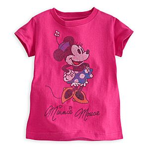Minnie Mouse Glittering Tee For Girls
