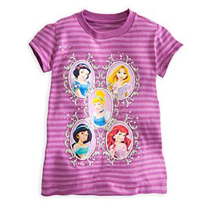 Disney Princess Striped Tee for Girls