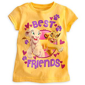 Simba and Nala Tee for Girls