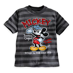 Mickey Mouse Striped Tee for Boys