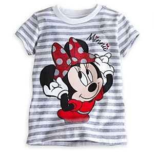 Minnie Mouse Striped Tee for Girls