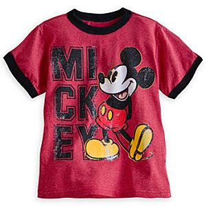 Mickey Mouse Ringer Tee for Boys