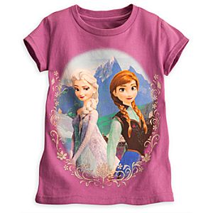 Anna and Elsa Tee for Girls - Frozen