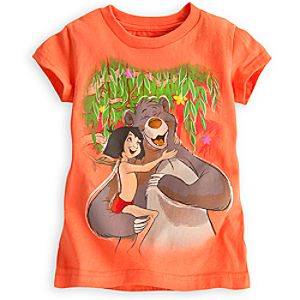 Mowgli and Baloo Tee for Girls - The Jungle Book