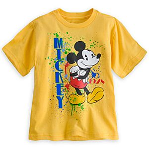 Mickey Mouse Splatter Tee for Boys