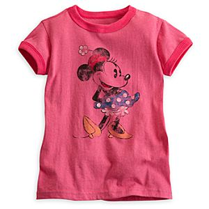 Minnie Mouse Classic Ringer Tee for Girls