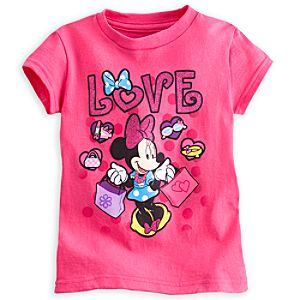 Minnie Mouse Glitter Tee for Girls