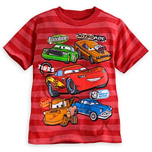 Cars Striped Tee for Boys