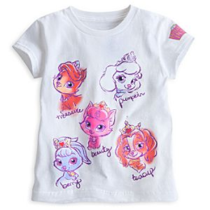 Palace Pets Tee for Girls - White
