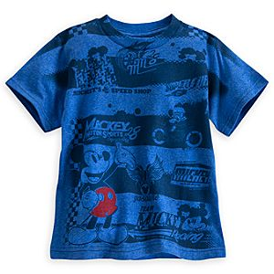 Mickey Mouse Motocross Tee for Boys