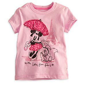 Minnie Mouse and Fifi Tee for Girls - Deluxe Storytelling