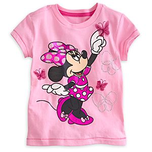 Minnie Mouse Pink Tee for Girls - Deluxe Storytelling