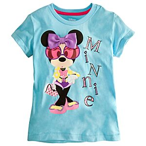 Embellished Storytelling Minnie Mouse Tee for Girls
