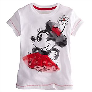 Embellished Storytelling Classic Minnie Mouse Tee for Girls