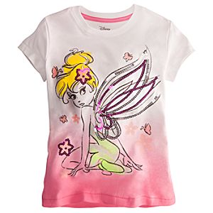 Deluxe Storytelling Tinker Bell Tee for Girls -- Pink