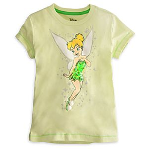 Deluxe Storytelling Tinker Bell Tee for Girls -- Green