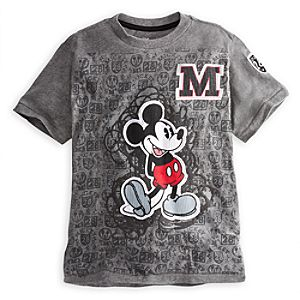 Embellished Storytelling Classic Mickey Mouse Tee for Boys -- Gray