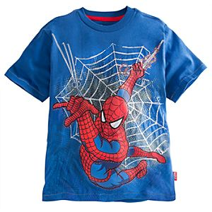 Embellished Storytelling Spider-Man Tee for Boys