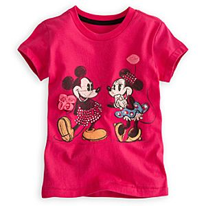 Deluxe Storytelling Mickey and Minnie Mouse Tee for Girls