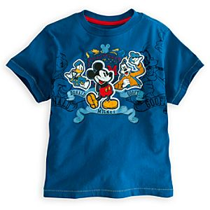 Deluxe Storytelling Goofy, Donald Duck and Mickey Mouse Tee for Boys