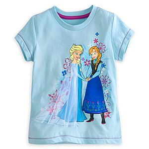 Anna and Elsa Tee for Girls - Deluxe Storytelling - Frozen
