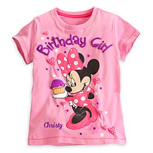 Minnie Mouse Birthday Girl Tee for Girls - Personalizable