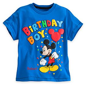 Mickey Mouse Birthday Boy Tee for Boys - Personalizable