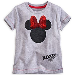 Minnie Mouse Sequin Bow Tee for Girls - Deluxe Storytelling