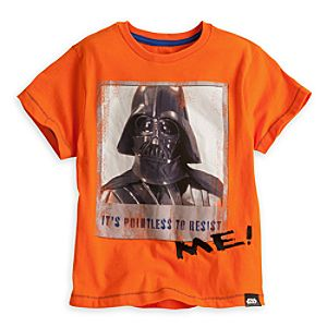 Darth Vader Tee for Boys - Star Wars - Deluxe Storytelling - Orange