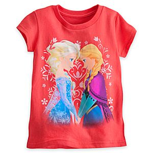 Anna and Elsa Sisters Tee for Girls