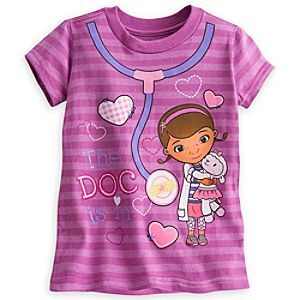 Doc McStuffins and Lambie Striped Tee for Girls