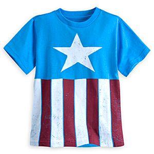 Captain America Costume Tee for Boys