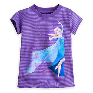 Elsa Striped Tee for Girls