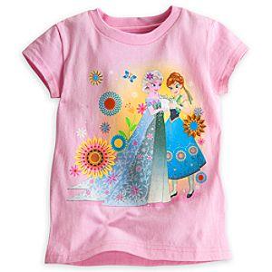Anna and Elsa Tee for Girls - Frozen Fever