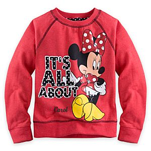 Minnie Mouse Sweatshirt for Girls - Personalizable