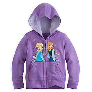 Anna and Elsa Hoodie for Girls - Personalizable