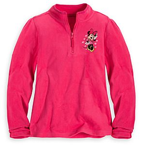 Personalizable Minnie Mouse Fleece Pullover for Girls